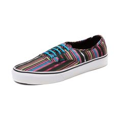 Vans Authentic Skate Shoe, Black Rainbow, at Journeys Shoes Getting these!!