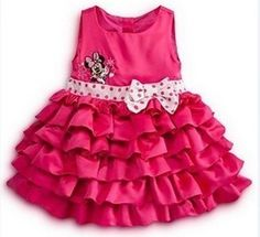 Free shipping!2014 fashion Minnie bowknot belt layer girl dress is suitable for 2 to 6 years old