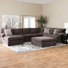 polyester fabric, this sectional is a simple piece that will add comfort and style to your living room, family room or game room.