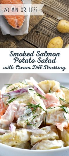 We're not fishing for compliments, but this Smoked Salmon Potato Salad with Creamy Dill Dressing is sure to earn you some. A Fresh dish in under 30 minutes, throw some red-skinned or russet potatoes into a sea of smoked salmon, capers and red onions. Combine with half and half, Greek yogurt, mustard, lemon juice and dill for a creamy finish to an applause-worthy dish.