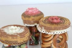 Decorative Crochet Jar lid Cover by etty2504 on Etsy