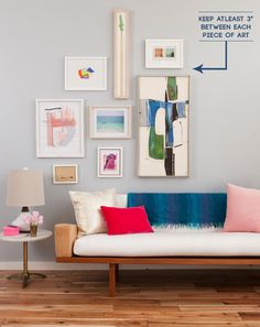USE 3 INCH BORDERS  |  Emily Henderson's gallery wall instructions