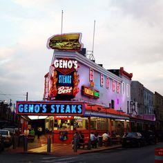 Geno's Steaks (Philadelphia, PA) (Take it from someone who's from Philly...Geno's sucks. They used to be good once upon a time like when my parents were my age. Don't waste your money..)