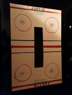 Hockey rink valentines box!