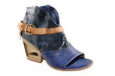 AS 98 blue heel. With gold heel