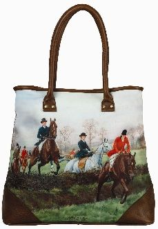 Fox Hunt Shoulder Horse Tote #2017