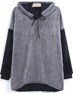 Shop Grey Hooded Long Sleeve Drawstring Wool Sweatshirt online. Sheinside offers Grey Hooded Long Sleeve Drawstring Wool Sweatshirt & more to fit your fashionable needs. Free Shipping Worldwide!