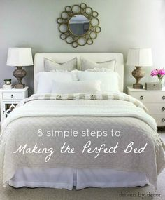 Simple Steps to Making the Perfect Bed A step by step guide to making the perfect bed!A step by step guide to making the perfect bed! Bedroom Bed, Guest Bedrooms, Home Decor Bedroom, Guest Room Bedding Ideas, Girls Bedroom, Bedroom Ideas, Guest Room Decor, Bedroom Inspiration, Home Staging