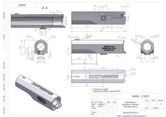 Чертежи ствола пистолета Деринджер Южанин (кликните по изображению, чтобы увидеть фото полного размера)