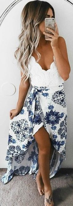 White + Floral Source #summerdresses