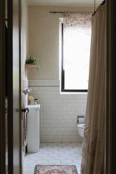 love the original tile. A Philadelphia Home with Vintage at Heart | Design*Sponge