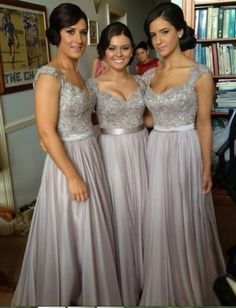 sparkly silver bridesmaid dresses