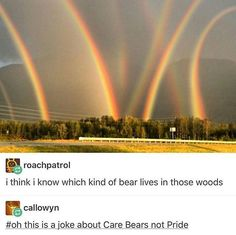 Eight Rainbows! Quite The Phenomenon.Seen In Lehigh Valley, PA. Cool Pictures, Cool Photos, Funny Pictures, State Parks, Glitch In The Matrix, Tumblr Stuff, Lehigh Valley, Weird World, Life Memes