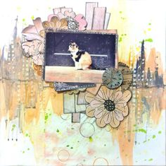 July Featured Layout by Song Li. http://creationbysong.blogspot.com/2013/07/scrapbook-layout-cat.html
