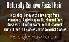 Naturally Remove Facial Hair