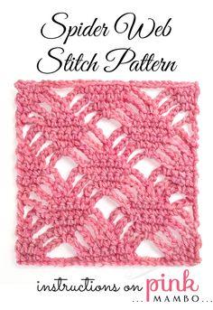 Spider Web Crochet Stitch Pattern