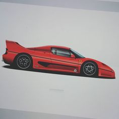 People always compare the MR2 to the nsx but when I squint it looks a lot more like one of these.  Dirtynailsbloodyknuckles.com  Link in profile  #ferrari #f50 #v12 #ferrarif50 #fcar #ferrarichat #ferrarination #ferrarifans #exotic #instacar #instacars #gumball #gumball3000 #rossocorsa #f1 #f40 #f40lm #ferrarif40