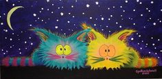 Scaredy Cats At Night