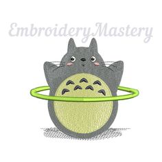 TOTORO anime machine embroidery design. Ghibli. My neighbour Totoro. Anime embroidery. Kids design. 3 sizes. Instant download http://etsy.me/2nTX1v7 #supplies #embroidery #machineembroidery #embroiderydesign #totoro #instantdownload #kikisdelivery #ghibli #anime