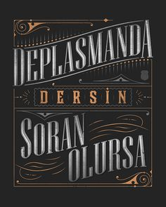 5 Illustrations typographiques pour vous inspirer - Beşiktaş Chants