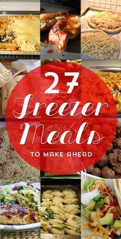 27 Make Ahead Freezer Meal Recipes - http://penneylanekitchen.com/27-make-ahead-freezer-meal-recipes/