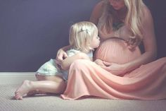 Sweet maternity shot idea w/baby #1 included