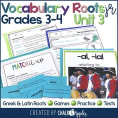 Looking for a way to build vocabulary with your students? Use Vocabulary Roots, Jr! Students will learn common morphemes (root words, prefixes, and suffixes) and practice using them to decode unfamiliar words. This unit includes all of the materials that you need to teach vocabulary for one quarter (nine weeks). These are easily transferable to screen share and online small groups too during online teaching. Vocabulary Strategies, Teaching Vocabulary, Vocabulary Building, Vocabulary Games, Vocabulary Words, Teaching Resources, Word Work Activities, Spelling Activities, Listening Activities