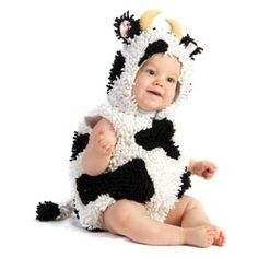 Baby Girls Boys Toddler Cow Halloween Costume - product - Product Review