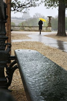 Rainy afternoon in Paris.