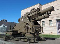 BL 9.2-inch howitzer Mk I on display outside the Australian War Memorial