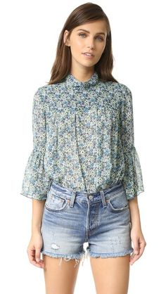 Anna Sui Woodblock Top