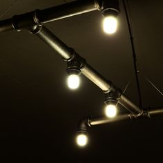 Industrial.KO.Design, Hängeleuchten, Leuchten aus Stahlrohr, Stahlrohrlampe, Stahlrohrleuchte, Industrial, Hängeleuchte Sigyn von Industrial.KO.Design