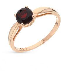 Золотое кольцо с гранатом NEW GOLD 102000191004gr*: красное и розовое золото 585 пробы, гранат — купить в интернет-магазине SUNLIGHT, фото, артикул 59541