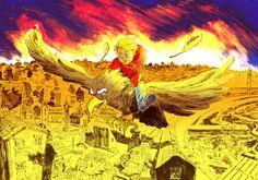 """Ilustração principal do conto """"No país dos meninos com nariz amarelo"""""""