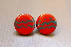 Martinuska / Red/wood earrings