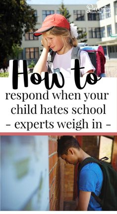 My daughter used to love school. When she suddenly was doing everything possible not to go, I read parenting books, talked with her school, asked a former school principal her tips, and discussed how to respond with a colleague and family therapist. Here you will find how to respond when your child hates school - it's a compilation of all of their tips. #parenting #backtoschool #school #education #parentingfromtheheart