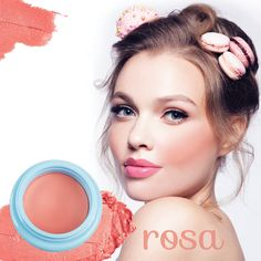 Our rose pink cheek cream blusher is sure to turn heads!