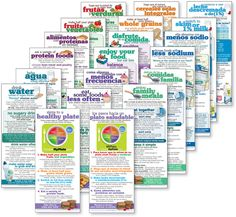 *MyPlate Nutrition cards - English and Spanish