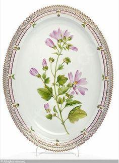 """Flora Danica"" an oval dish sold by Bruun Rasmussen, Copenhagen, on Tuesday, June 01, 2010"