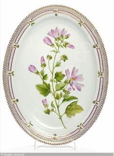 """Flora Danica"" an oval dish sold by Bruun Rasmussen, Copenhagen, on Tuesday, June 01, 2010"