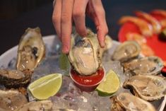 Do you love Oyster? If you ask me, I will eat some but not a lot since I really don't like the slimy feeling when you start eating eat, sorry. Anyways, we celebrate Oyster Day, a famous bar appetizer and… Local Seafood, Seafood Restaurant, Chefs, Types Of Oysters, Tapas, Catsup, Oyster Bed, Famous Bar, Fresh Oysters