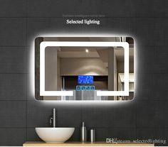 espejo de bao de pared inteligente inteligente de alta definicin espejos de bao de sin