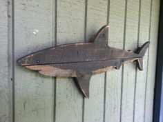 New for shark week Shark art made of recycled by JohnBirdsong