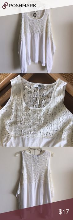🆕listing One 7 Six top Off white color lace on top portion. Hangs beautifully on sides because of way it is cut. One 7 Six Tops