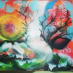 spray paint art work by Francesca Baldarelli.