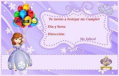 Invitaciones de Cumpleaños de Princesita Sofía Princess Peach, Disney Princess, Princesas Disney, Holidays And Events, Birthdays, Invitations, Christmas Ornaments, Holiday Decor, Party