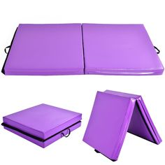 "Costway 6'x38″X4"" Gymnastics Mat Thick Two Folding Panel Fitness Exercise Purple w/ free shipping – Costway Sporting"