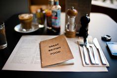 Having watched 'British Cuisine' re-invent itself on TV complete with Jenny Bond voice-overs; Restaurant Branding, Cafe Restaurant, Great British Menu, Café Bistro, Canteen, Menu Design, Fashion Room, Food Menu, Coffee Shop