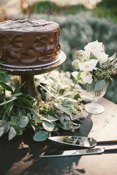 #chocolate cake  Photography: Emily Blake Photography - emilyblakephoto.com  Read More: http://www.stylemepretty.com/2013/11/05/palos-verdes-wedding-from-emily-blake-photography/