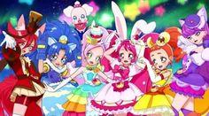 Chocolat/Akira, Gelato/Aoi, Pekorin, Parfait/Ciel/Kirarin, Whip/Ichika, Custard/Himari, and Macaron/Yukari